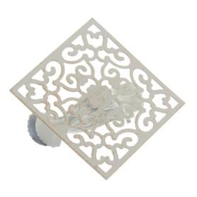 Клипса «Орнамент» металл цвет белый
