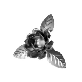 Клипса «Розочка» металл цвет хром