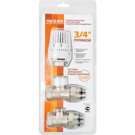 Комплект терморегулирующий 3/4 Heizen прямой, для радиатора