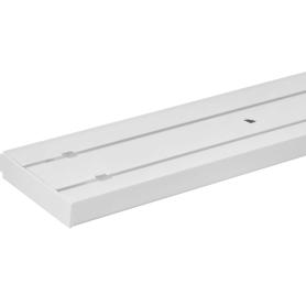 Карниз пластиковый двухрядный Inspire в наборе 160 см пластик цвет белый