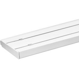 Карниз пластиковый двухрядный Inspire в наборе 200 см пластик цвет белый