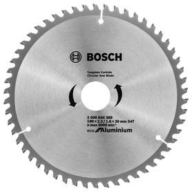 Диск пильный универсальный Bosch Eco for Aluminium 2608644389, 190x30 мм, 54 Т
