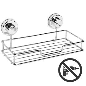 Полка для ванной комнаты Sensea Simply Lock на присосках металл