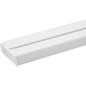 Карниз шинный однорядный «Эконом» в наборе 200 см пластик цвет белый