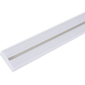 Карниз шинный однорядный «Эконом» в наборе 240 см пластик цвет белый