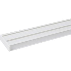 Карниз шинный двухрядный «Эконом» в наборе 160 см пластик цвет белый