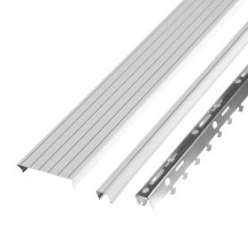 Комплект потолка Artens 1.35х0.9 м цвет жемчужно-белый с металлической полосой