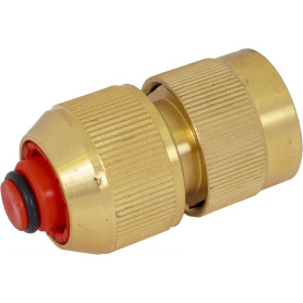 Коннектор для шланга быстросъёмный с аквастопом BOUTTE  1/2 дюйма