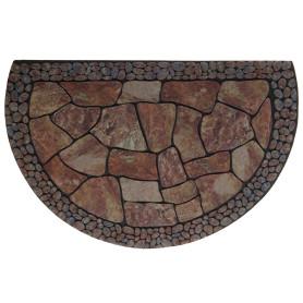 Коврик придверный «Stones» полукруг резина 58х90 см
