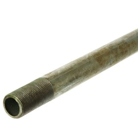 Труба с наружной резьбой d 20 мм L 2 м оцинкованная сталь