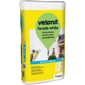 Шпаклёвка цементная финишная Weber Vetonit Facade white 20 кг