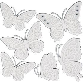 Наклейка 3D «Белые бабочки» СВА 1402