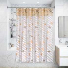 Штора для ванной комнаты «Vidage Кастель» 180х180 см цвет бежевый