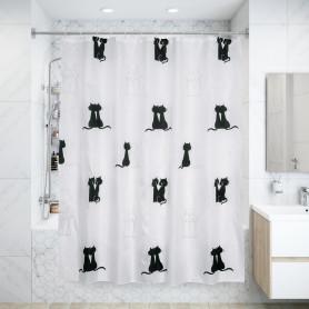 Штора для ванной комнаты «Vidage Due Gatti» 180х180 см цвет белый
