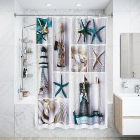 Штора для ванной комнаты «Cruise» 180х200 см цвет белый
