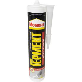 Герметик Момент Гермент акриловый морозостойкий, цвет белый, 420 г
