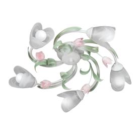Люстра Vesna 5xE14x60 Вт, металл/стекло, цвет белый/мультиколор