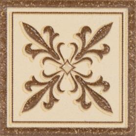 Декор «Таллин» 6х6 см цвет бежевый