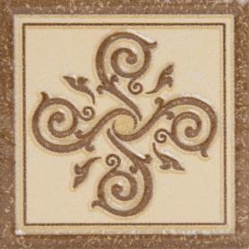 Декор «Гётеборг» 6х6 см цвет коричневый