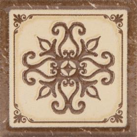 Декор «Севилья» 6х6 см цвет коричневый