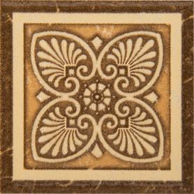 Вставка «Карфаген» 7х7 см цвет коричневы