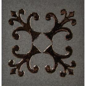 Вставка «Тулуза» 6х6 см цвет черный