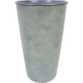 Горшок цветочный «Коне» D28, 18, 5л., пластик, Серый / Серебристый