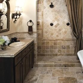 Плитка настенная Травертин Toscana 10х10 см 0.5 м2 цвет коричневый