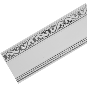 Бленда «Монарх» 7 см белый глянец/хром