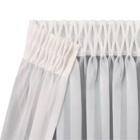 Лента шторная вафельная 60 мм цвет белый