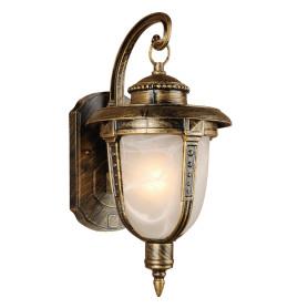 """Настенный светильник уличный вниз Elektrostandard """"Atlas"""" 1xE27х60 Вт, цвет чернёное золото, IP44"""