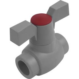 Кран шаровый FV-PLAST ⌀20 мм, полипропилен