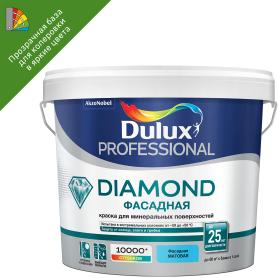 Краска для колеровки фасадная  Dulux Гладкая bs прозрачная база BM 2.4 л