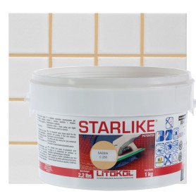 Затирка эпоксидная Litochrom Starlike C250, 1 кг, цвет бежевый