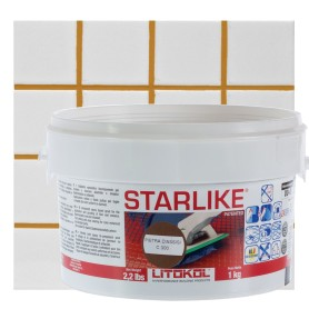 Затирка эпоксидная Litochrom Starlike C300, 1 кг, цвет коричневый