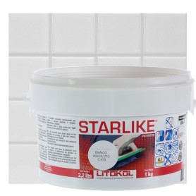 Затирка эпоксидная Litochrom Starlike C470, 1 кг, цвет белый