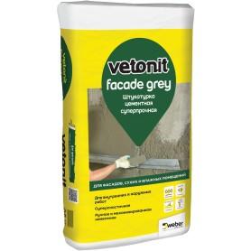 Штукатурка цементная Weber Vetonit Facade Grey 25 кг