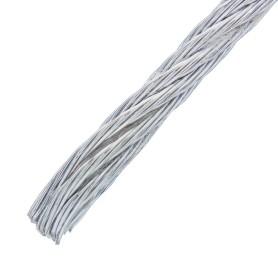 Трос стальной DIN 3055 3 мм 5 м, цвет цинк