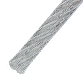 Трос стальной в оболочке PVC 3/4 мм 25 м, цвет цинк
