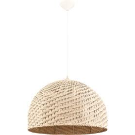 Подвесной светильник Eko 1xE27x60 Вт, металл/текстиль, цвет белый/мультиколор