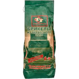 Уголь древесный в брикетах СевЗапУголь, 2 кг.