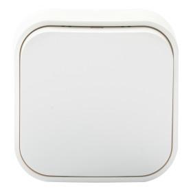 Переключатель накладной Legrand Quteo 1 клавиша, цвет белый