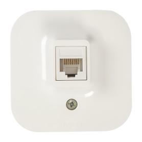 Розетка компьютерная накладная Legrand Quteo RJ45, UTP cat 5, цвет белый