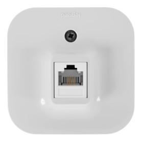 Телефонная розетка накладная Legrand Quteo RJ11, цвет белый