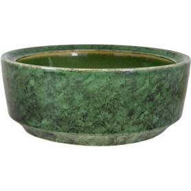 Горшок цветочный для бонсай ø27 h2 см v4.5 л керамика малахит