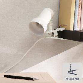 Светильник на прищепке, R63 1xE27x40 Вт, цвет белый