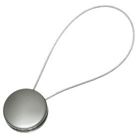 Клипса 45 мм с тросом, цвет серебро