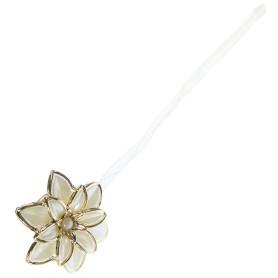 Клипса «Нарцисс», 60 мм, цвет белый