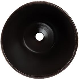 Горшок цветочный «Меланж» D18, 2, 6л., керамика, Коричневый, Серый / Серебристый