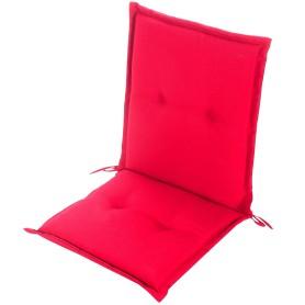 Подушка для стула красная 92х48х5 см, полиэстер